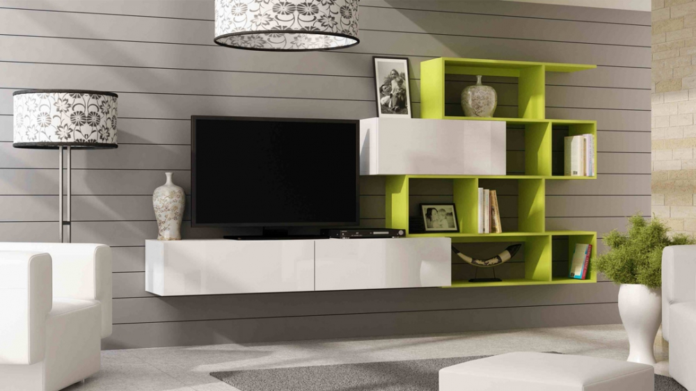 Vero style 2 - green entertainment center