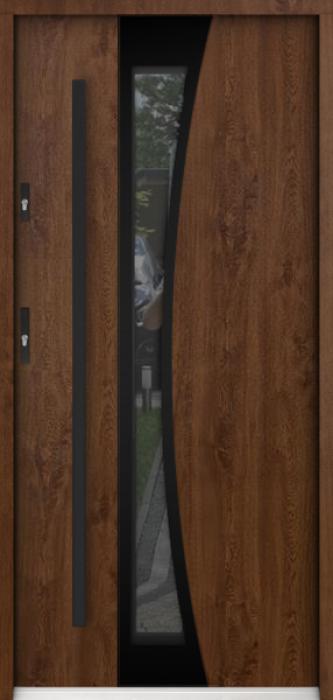 Sta Gemini noir - stainless steel front door