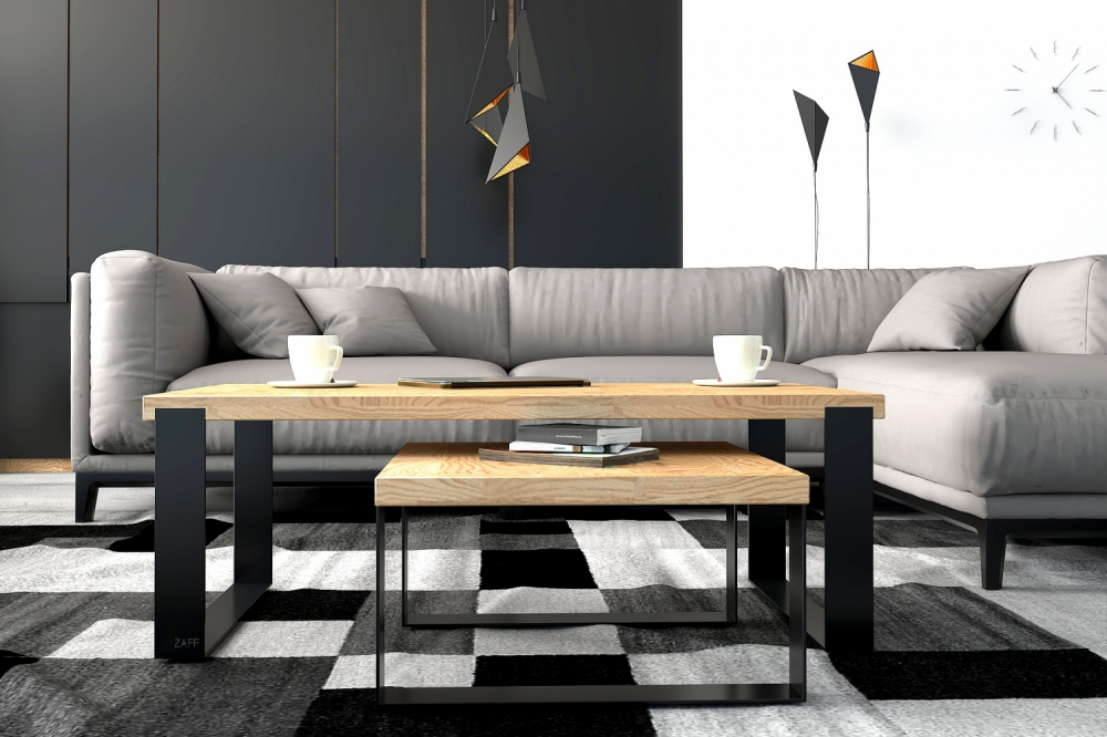 ZAFF 108 - modern oak coffee table