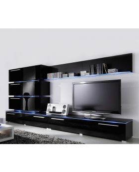 Liren 2 - black media wall unit