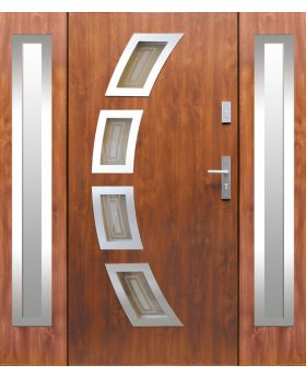 Fargo 21A T - exterior front entry door with 2 sidepanel