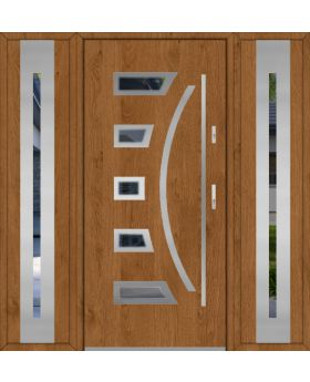 Fargo 23 T - stainless steel door with two side panels