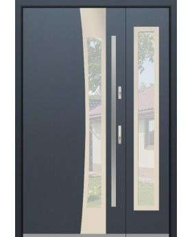 Fargo 37A DB - stainless steel front door with side panels