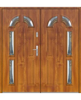 Fargo 9 double - double front entry door
