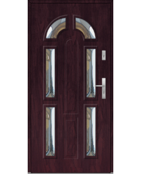 Fargo 9B - stainless steel front doors with glass