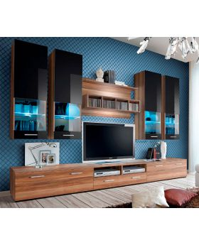 Torino 6 - Plum / black entertainment center