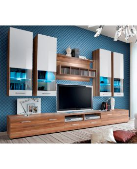 Torino 4 - Plum / white TV wall unit