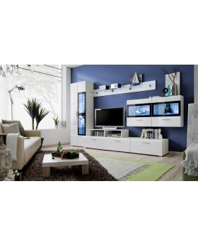 Kane 4 - white entertainment center cabinet