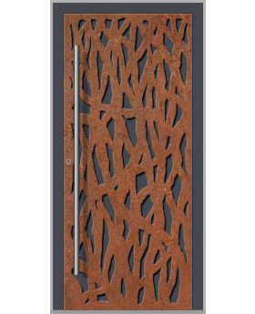 LIM Corrode  - Aluminium front door with corroded corten steel