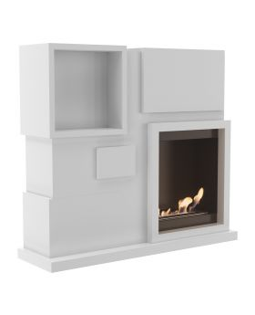 Jackson - wall unit with fireplace