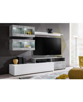 Lowell - modern media wall unit