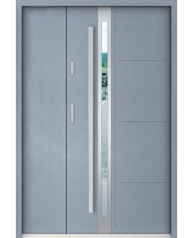 Sta Galileo Uno - stainless steel front door with one side panel