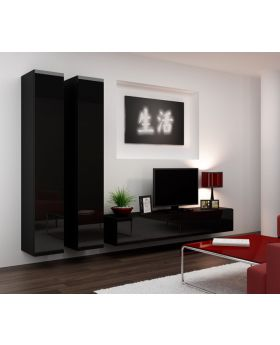 Seattle 16 - black entertainment center