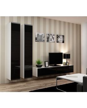 Seattle 14 - Black front and white body wall unit