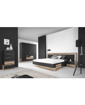 Paris B - Black and walnut baltimore bedroom set