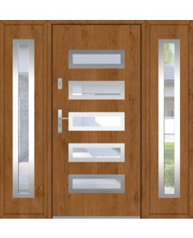 Fargo 20 T - modern front door with two side panels