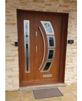 Fargo 21 A DB - exterior front entry door with sidepanel
