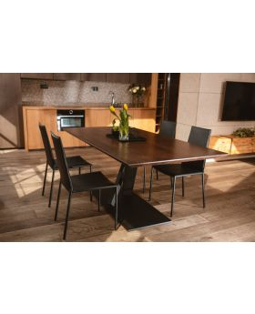ZAFF 02 - wood and metal dining table