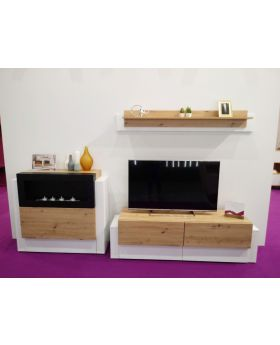 Asque - tv media wall unit