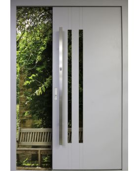 Dekacal - solid wood front door with exterior aluminum cladding