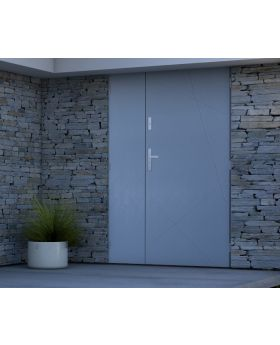 Sta Diego Duo - front door with side panels Colour: light anthracite