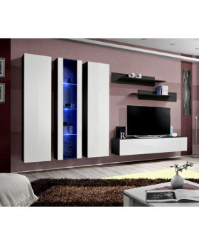 Idea 4 - white and black tv wall unit