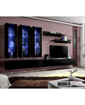 Idea E1 - black modern wall units