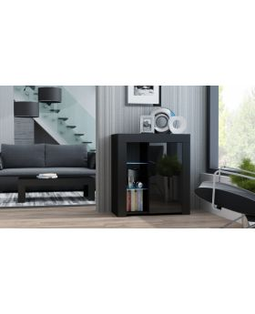 Milano Sideboard 1D  - black cheap black dresser