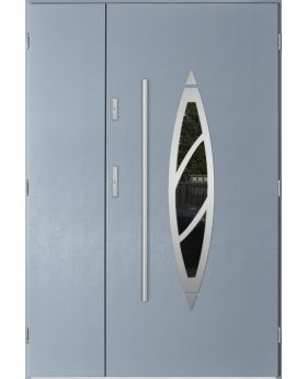 Sta Aries Uno - stainless steel front door with frame