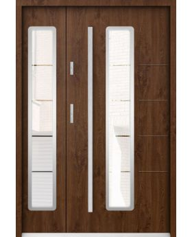 Sta Hevelius Duo - glass entry doors residential Colour: winchester