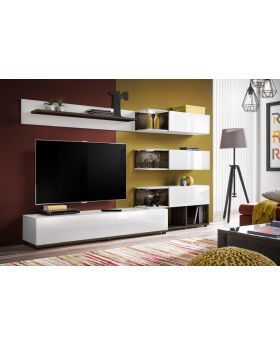 Simi white  - modern entertainment center
