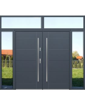 custom configuration - Fargo double door with left, right and top sidelights
