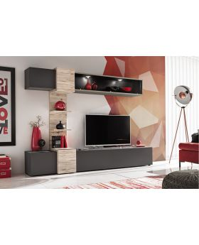 Asrio - modern tv wall unit