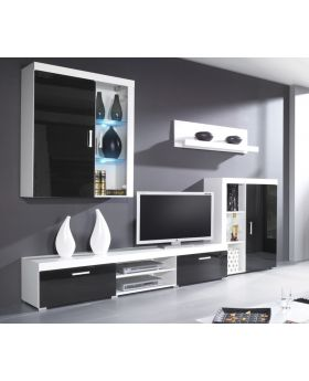 Venice 1 - white modern entertainment center